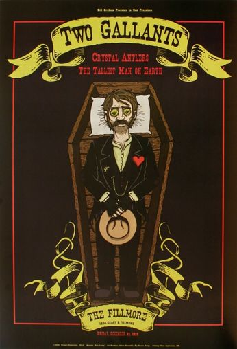 Two Gallants - The Fillmore - December 26, 2008 (Poster)