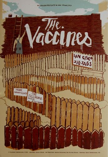 The Vaccines - The Fillmore - February 15, 2013 (Poster)