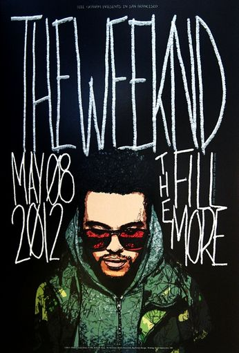 The Weeknd - The Fillmore - May 8, 2012 (Poster)