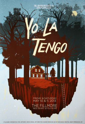 Yo La Tengo - The Fillmore - May 10-11, 2013 (Poster)