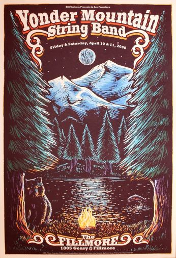 Yonder Mountain String Band - The Fillmore - April 10-11, 2009 (Poster)