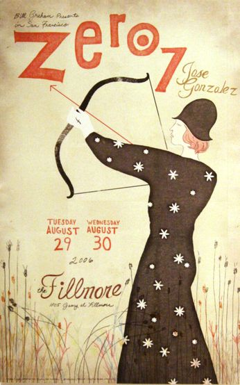 Zero 7 - The Fillmore - August 29-30, 2006 (Poster)