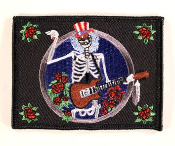 Grateful Dead - Skeleton Plays Guitar Patch