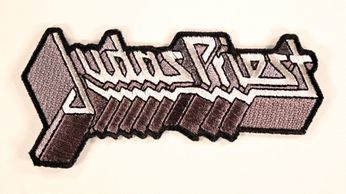 Judas Priest - Silver Logo Dye Cut Patch