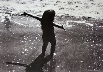 John Pearson - Little Girl on the Beach (Poster)