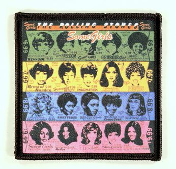 The Rolling Stones - Some Girls Cover Patch