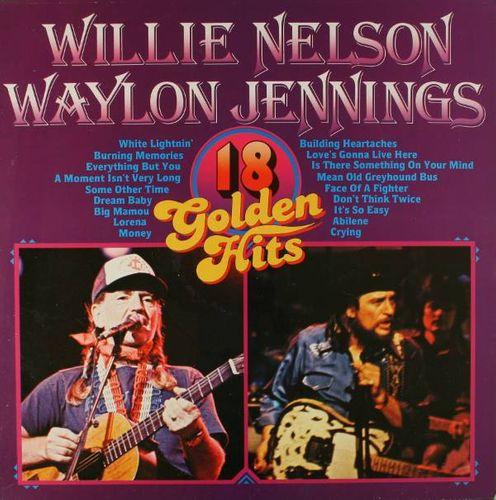 Waylon Jennings Amp Willie Nelson 18 Golden Hits Import