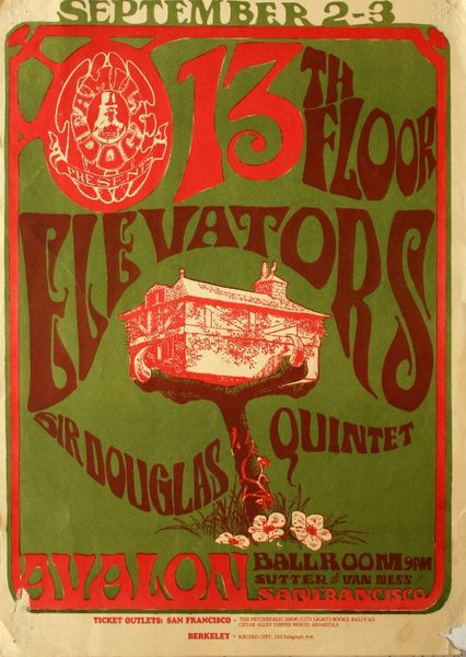 13th floor elevators the avalon ballroom september 2 3 for 13th floor with diana live dvd