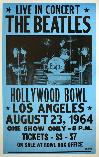 the beatles hollywood bowl august 23 1964 poster amoeba music. Black Bedroom Furniture Sets. Home Design Ideas