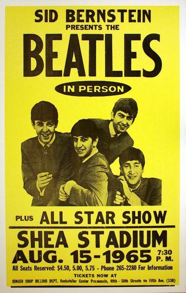 The beatles shea stadium august 15 1965 poster amoeba music