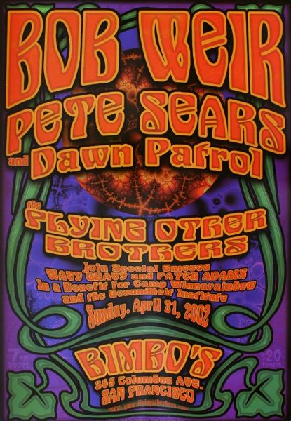 Bob Weir Bimbo S April 21 2002 Poster Amoeba Music