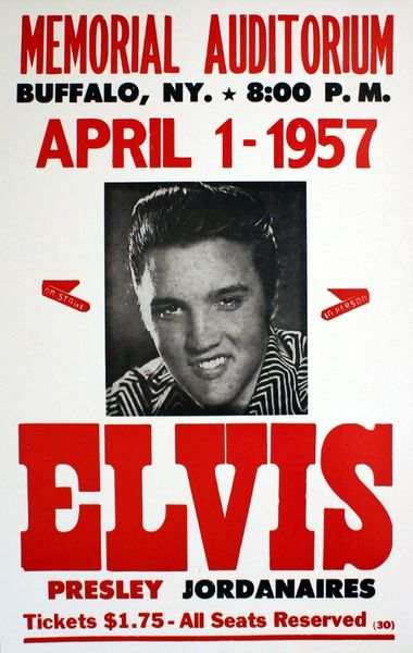 Elvis Presley Memorial Auditorium April 1 1957