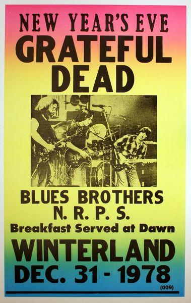 Grateful Dead Winterland December 31 1978 Poster