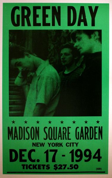 Green Day - Madison Square Garden - December 17  1994  Poster