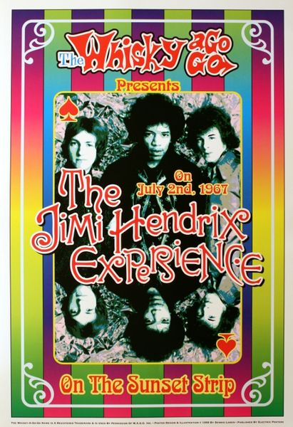 Jimi Hendrix The Whiskey A Go Go July 2 1967 Poster