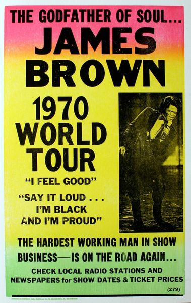 James Brown - 1970 World Tour  Poster