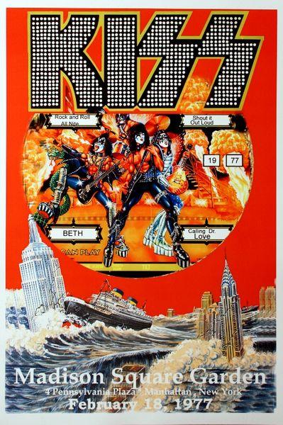 Kiss Madison Square Garden February 18 1977 Poster