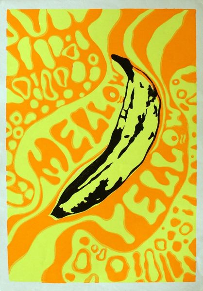 vintage head shop poster - mellow yellow  poster