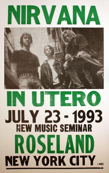 Nirvana Roseland Ballroom July 23 1993 Poster