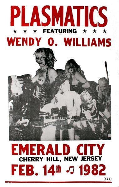 Plasmatics Emerald City February 14 1982 Poster