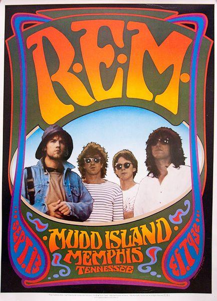 R E M Mudd Island September 13 1986 Poster