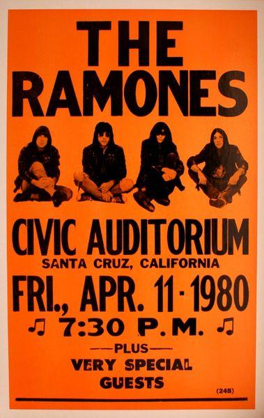The Ramones Civic Auditorium April 11 1980 Poster