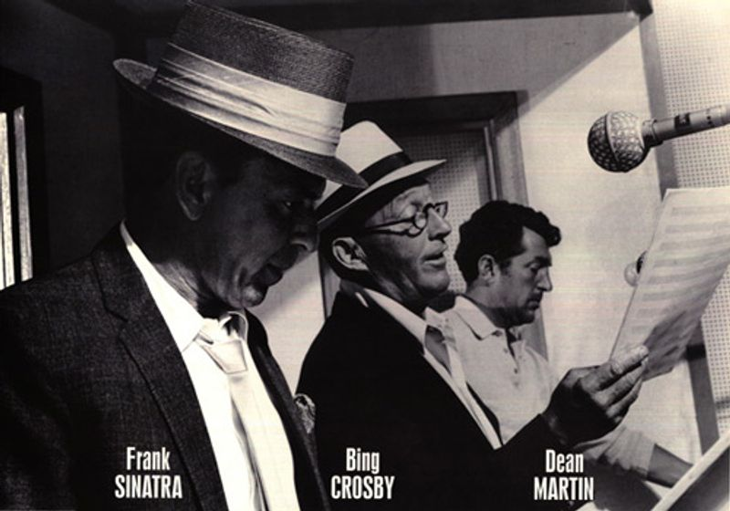 Frank Sinatra Bing Crosby Dean Martin Recording Studio