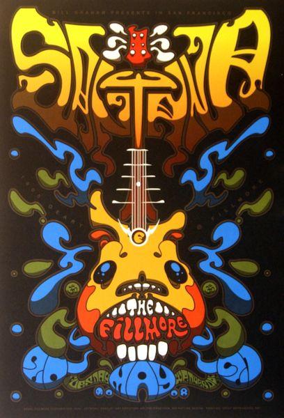 Santana The Fillmore May 20 21 2008 Poster Amoeba