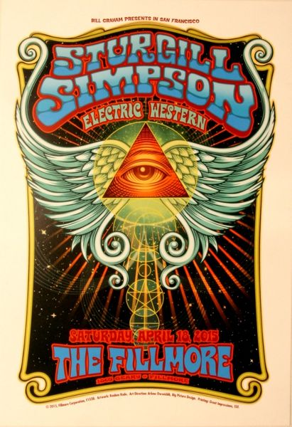 Sturgill Simpson The Fillmore April 18 2015 Poster