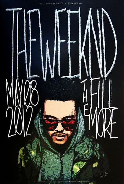 The Weeknd The Fillmore May 8 2012 Poster Amoeba