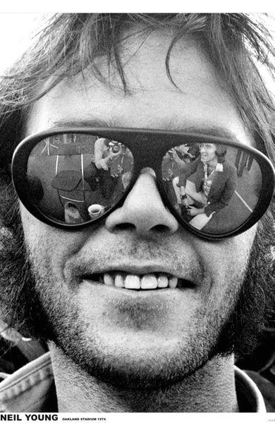 Neil Young Sunglasses Poster Amoeba Music