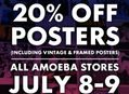 Poster Sale at Our Stores July 8-9