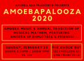 Amoebapalooza SF Sunday, 2/23