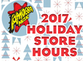 2017 Holiday Store Hours