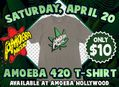4/20 T-Shirt Sale at Amoeba Hollywood Saturday, April 20