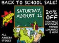 Back To School Sale at Our Stores Saturday, August 11