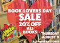 20% Off All Books at Our Stores Thursday, August 9th