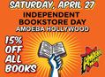 15% Off Books at Amoeba Hollywood Saturday, April 27
