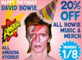 20% Off All David Bowie Music & Merch at Our Stores January 8