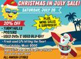 Christmas In July Sale at Our Stores Saturday, July 20