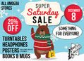Super Saturday Sale at Our Stores December 8