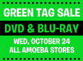 Green Tag DVD & Blu-ray Sale at Our Stores October 24th