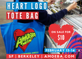 Heart Logo Tote Bag Sale Online and At Our Bay Area Stores
