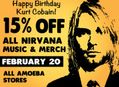 15% Off Nirvana Items at Our Stores Monday, February 20
