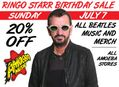 20% Off All Beatles Music & Merch at Our Stores Sunday, July 7th