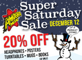 Super Saturday Sale December 12