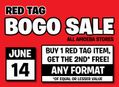 Red Tag BOGO Sale at Our Stores Friday, June 14