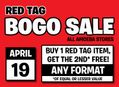 Red Tag BOGO Sale at Our Stores Friday, April 19