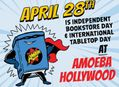 15% Off Books & Tabletop games at Amoeba Hollywood April 28