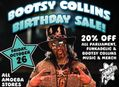 20% Off Bootsy Collins Music & Merch at Our Stores October 26